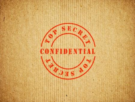 Top Secret Confidential box Stock Photo