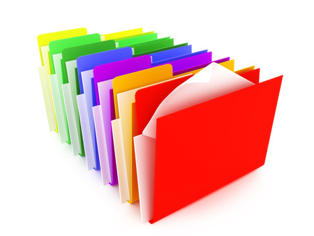 bureaucracy: Colored Folders Stock Photo
