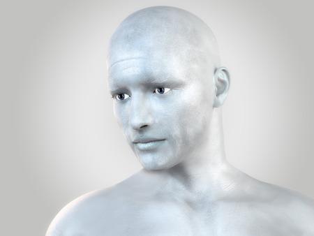 Silver man photo