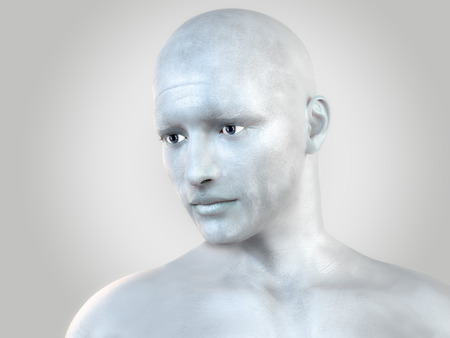 mannequin: Silver man Stock Photo