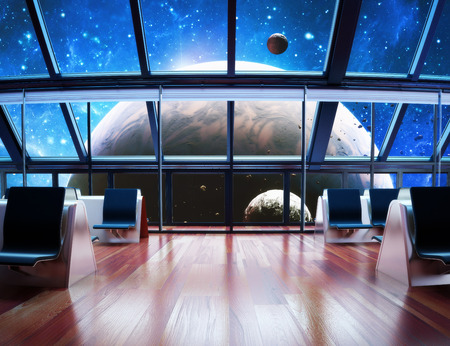 Exploration, Modern interior view of a celestial planet   photo