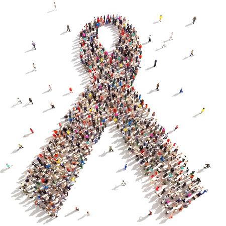 Personnes soutenant la sensibilisation au cancer du sein Banque d'images - 29301530