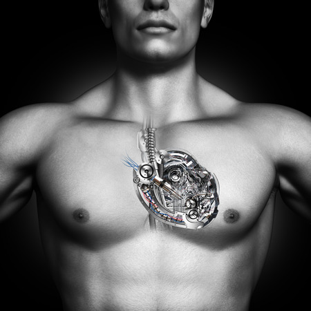 machine: Mechanical heart  Built like a machine, healthy human heart concept