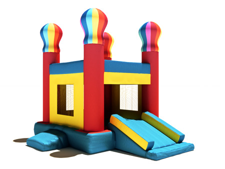 Childern s Bounce-Haus auf einem weißen Hintergrund Standard-Bild