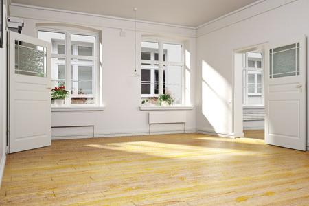 아파트 나 집의 전통적인 빈 인테리어.