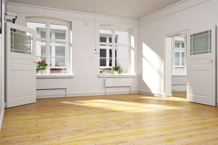 Traditional empty interior of an apartment or home.