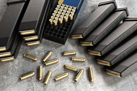 reloading: Assault rifle ammunition and loaded clips