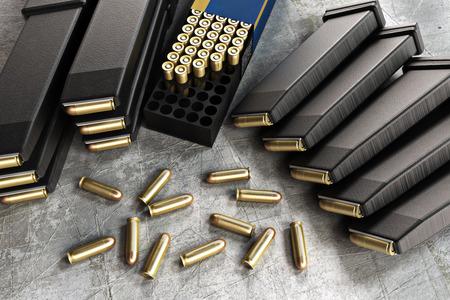 ammunition: Assault rifle ammunition and loaded clips