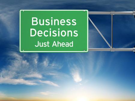 Business decision making concept. Imagens