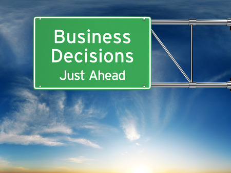 business decision: Business decision making concept. Stock Photo