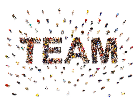 eam concept .3d rendering of a diverse large group of people forming the shaped text word for teamwork. Illustration is on an isolated white background Zdjęcie Seryjne