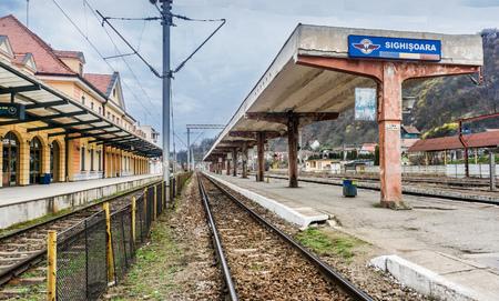 Catching Train to Brasov 스톡 콘텐츠