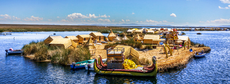 One of the Uros Islands in Lake Titikaka