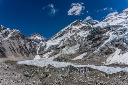 Base Camp and Khumbu Glacier