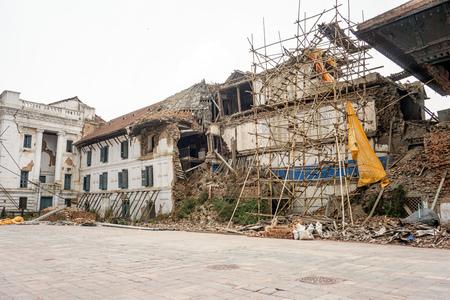 Earthquare damage Stock Photo