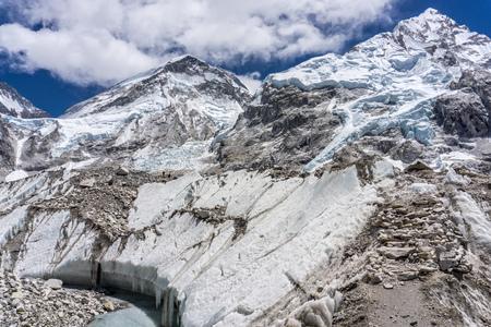 Day 8 of EBC Trek:  Kfhumbu Glacier