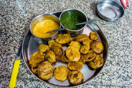 Cooking Class - Pakora Stock Photo