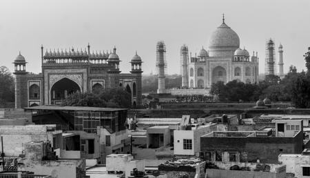 Taj Mahal aerial view Фото со стока