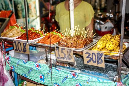 Langs Khao San Road Stockfoto