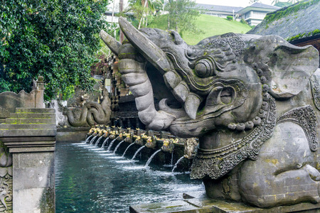Holy Spring Water Temple (Pura Tirta Empul) Stock Photo