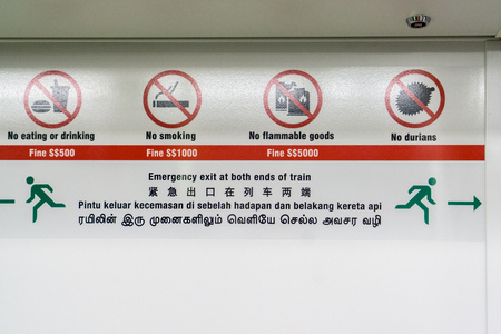 Sign on the subway