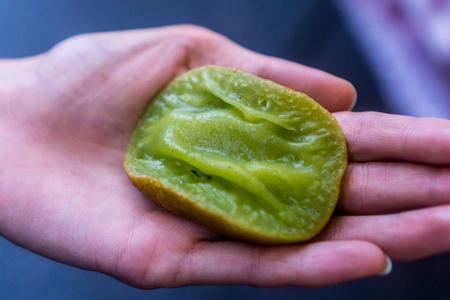 Street food - pondan pancake Stock Photo