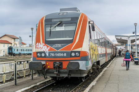 Taking a train to Sighisoara