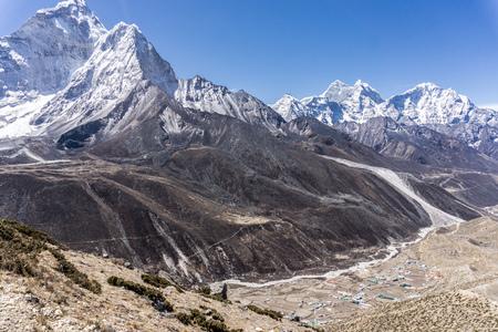 Day 6 of EBC Trek:  Hike to Nagarjun Hill, city of Dingboche below