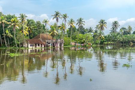 Backwaters of Kerala Stock Photo