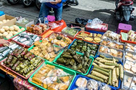 Passer Baroe Market - streetside food 版權商用圖片