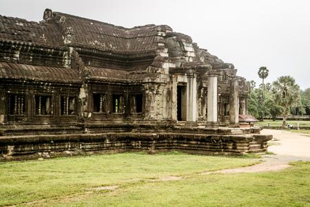 Angkor Wat library Stock Photo