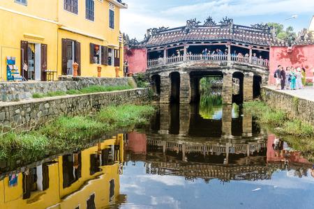 Hoi An Town - Puente japonés Foto de archivo - 91352154