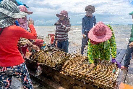 At Crab Market in Kep, Cambodia