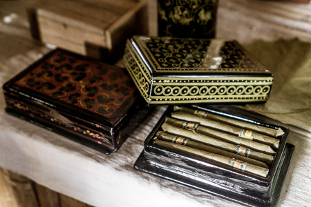 Day trip on Inle Lake - Cigars Stock Photo