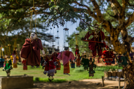 Bagan, Myanmar Pagodas (Temples) - Puppets Stock Photo