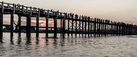 Mandalay, Myanmar - U Bein Bridge for Sunset
