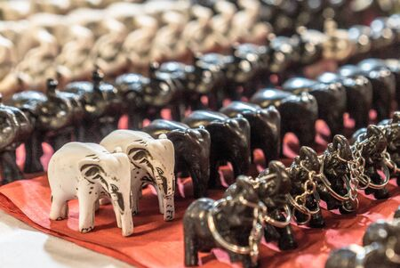 Carved WoodenElephant Keychaings