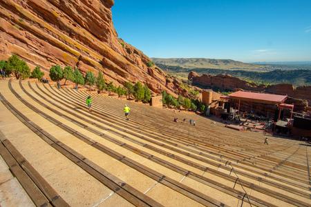 Redrocks Amphitheatre in Denver, Colorado USA 免版税图像