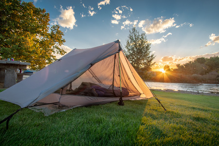 Riverside Park Camp Ground in Wyoming, USA. Free campsite during roadtrip