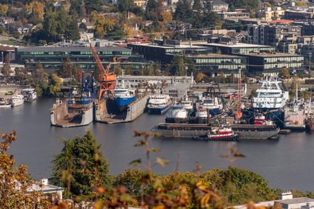 Scenery on the coat of Puget Sound, Seattle Washington
