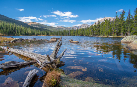 Finch Lake Trail in the Rocky Mountain National Park, USA