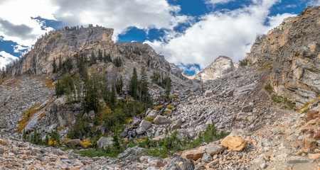 Hiking Garnet Canyon Trail Hike The Grand Tetons National Park in Wyoming USA