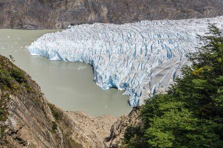 Hiking north of Glacier Grey Imagens