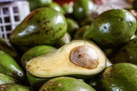 Huge avocados Stock Photo