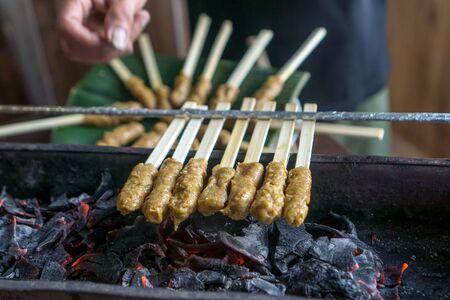 Cooking Class - Chicken Satay Stock fotó