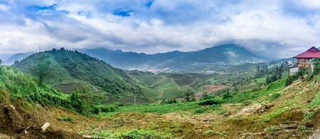 Rice Fields in Sapa, Vietnam Stock Photo