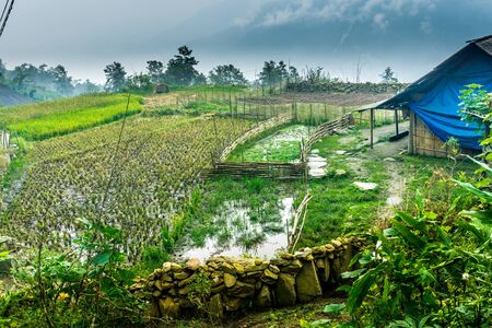 Homestay with Hmong People - local village Stock Photo