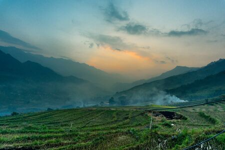 Homestay with Hmong People - sunset