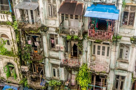Yangon, Myanmar - view form our hotel Stock Photo