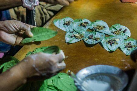 Street food in Yangon, Myanmar - Betel Nut